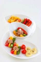 Healthy colorful platter with assorted vegetables