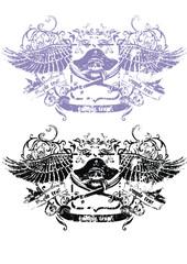 skull fly emblem