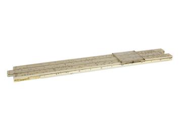 Old slide-ruler for manual calculation