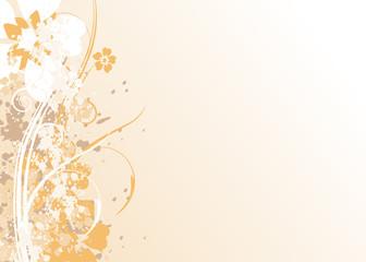 Floral Grunge Wallpaper