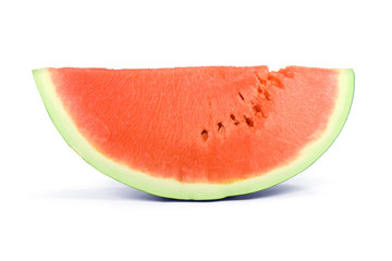 sweet slice of watermelon isolated on white background.