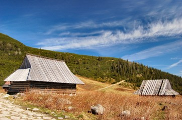 Fototapete - Small cabins (cottages) in Tatras