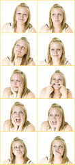 Young Teenager with many different expressions