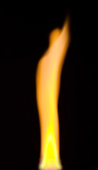 bright fire over black background