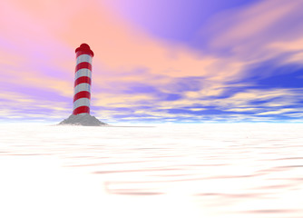 North Pole with Spiral Pattern on Ice with Sky