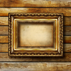 empty frame over wooden planks