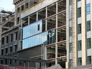 Façade en construction, Région de Paris.