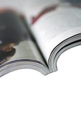 Magazine isolated on the white background.