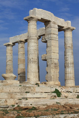 Ruins of Poseidon Temple at Cape Sounio