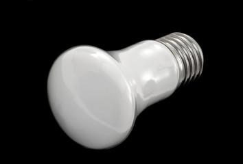 light bulb on black background, idea concept