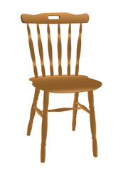 Vector illustration of wooden chair