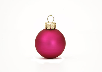 Pinky purple Christmas ball decoration with drop shadow