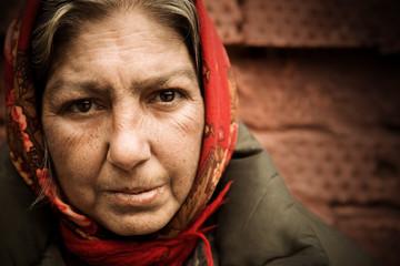 homeless woman