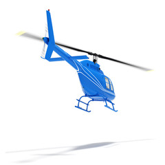 helicopter flight on a white background