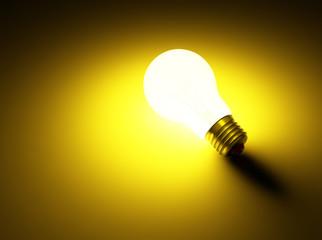 luminous lamp abreast on dark background