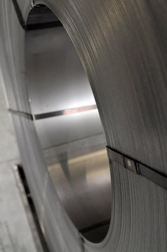 Stahl auf einem Coil
