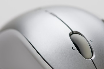 close up of mouse wheel