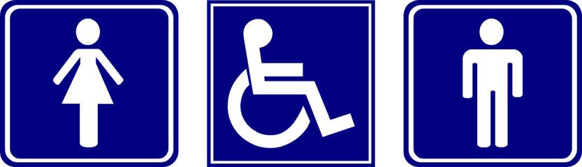 Homme, femme, handicapé