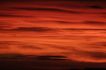 ciel rouge