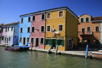 Quartier coloré de Burano près de Venise