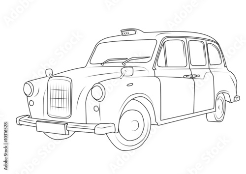 Line Art Xl 2008 : Quot london taxi photo libre de droits sur la banque d images