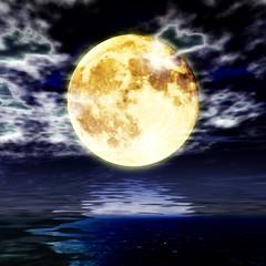 夢で見た月