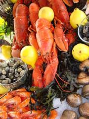 préparation du plateau de fruits de mer