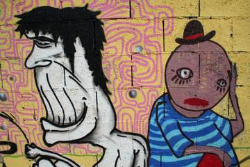 indiferencia graffiti. arte urbano
