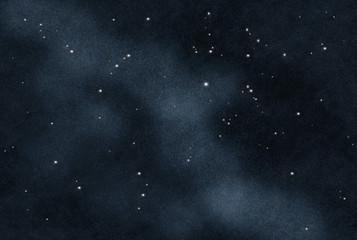 digital created starfield with cosmic nebulas