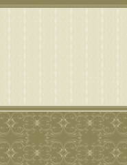 beige background with decorative ornaments