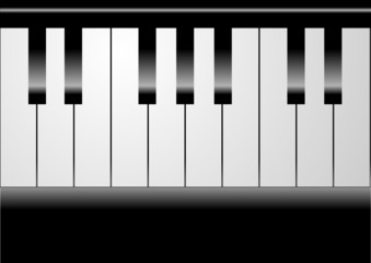 Editable vector piano background