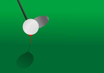 Editable vector golf background