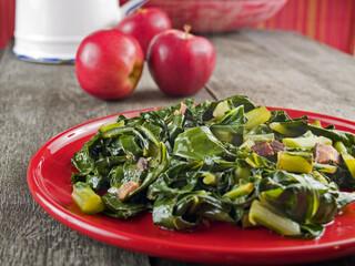 Collard greens and bacon