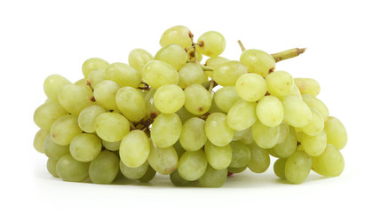 isolated bunch of green grapes on a white background
