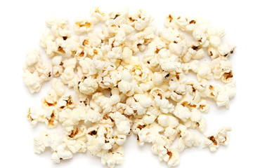 shot of Popped Corn isolated on white (popcorn)
