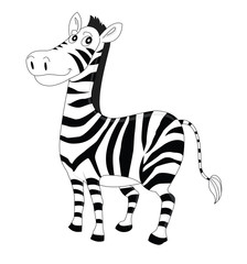 illustration of a striped zebra