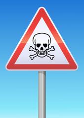 Panneau de danger mortel