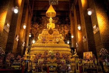 Buddha inside Wat Phra Kaeo Temple, bangkok, Thailand..