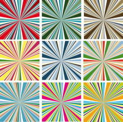 Abstract vector colorful backgrounds for design