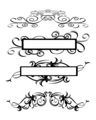 illustration of abstract floral banner