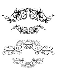 illustration of abstract floral text banner