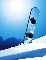Snowboard, vector illustration