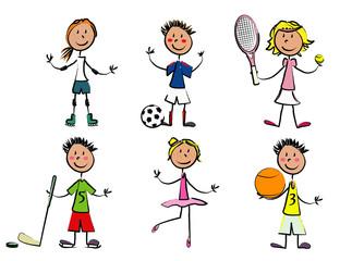 6 enfants sport