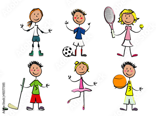 6 enfants sport photo libre de droits sur la banque d for Libero com pe