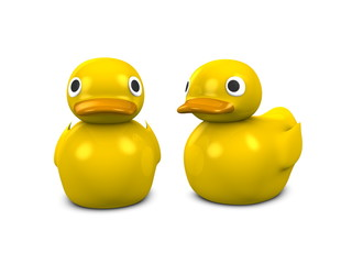 3d image, conceptual, yellow duck