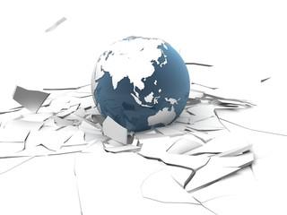globus einschlag
