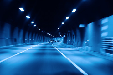 highway tunnel at night Fotomurales