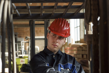 Construction workerer on workplace