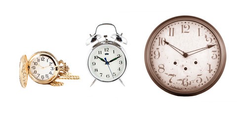 different instruments of time, clocks and watches