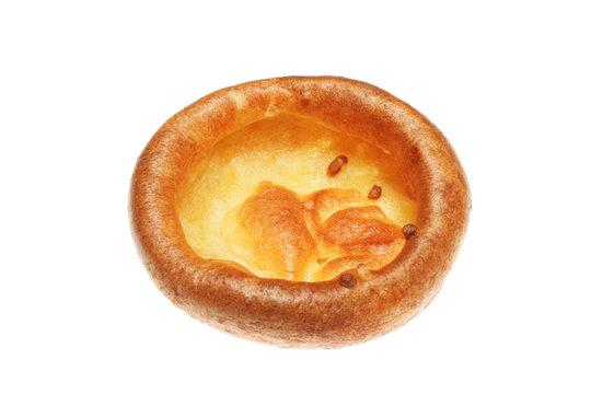 Yorkshire pudding isolated on white